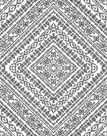 Иранский ковер Black&White 1739 - высокое качество по лучшей цене в Украине.