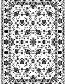 Иранский ковер Black&White 1742 - высокое качество по лучшей цене в Украине.