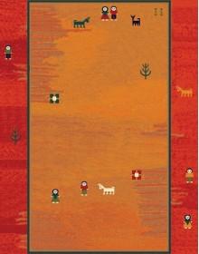 Иранский ковер Gabbeh Delvar Red - высокое качество по лучшей цене в Украине.