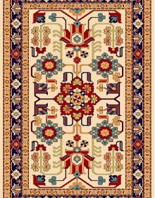 Иранский ковер Pazirik Mehraban Creme - высокое качество по лучшей цене в Украине.
