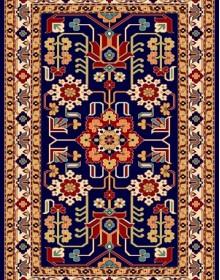 Иранский ковер Pazirik Mehraban D.Blue - высокое качество по лучшей цене в Украине.