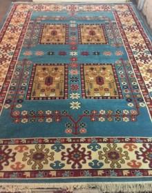 Иранский ковер Pazirik Qashqai Blue - высокое качество по лучшей цене в Украине.
