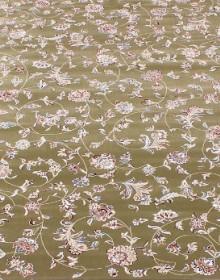 Высокоплотная ковровая дорожка Esfahan 4904A green-ivory - высокое качество по лучшей цене в Украине.