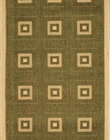 Безворсовая ковровая дорожка Sisal 012 green-cream - высокое качество по лучшей цене в Украине.