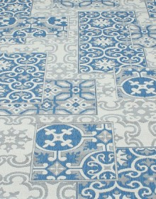 Безворсовая ковровая дорожка Cottage 5474 wool - blue - высокое качество по лучшей цене в Украине.
