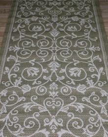 Безворсовая ковровая дорожка Cottage 2098 olive-green-wool - высокое качество по лучшей цене в Украине.
