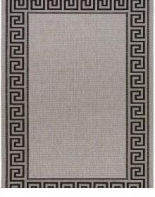 Безворсовая ковровая дорожка Natura 20014 Silver-Black Рулон - высокое качество по лучшей цене в Украине.