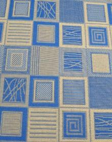 Безворсовая ковровая дорожка Natura Kubik blue Рулон - высокое качество по лучшей цене в Украине.