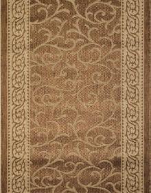 Безворсовая ковровая дорожка Sisal 014 gold-beige - высокое качество по лучшей цене в Украине.