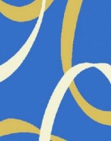 Высоковорсная ковровая дорожка First Shaggy 6495 , BLUE - высокое качество по лучшей цене в Украине.