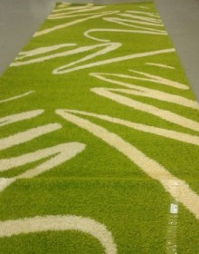 Высоковорсная ковровая дорожка Shaggy 0791 зеленый - высокое качество по лучшей цене в Украине.