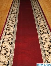 Кремлевская ковровая дорожка Super Elmas 2550A d.red-black - высокое качество по лучшей цене в Украине.