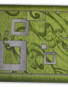 Синтетическая ковровая дорожка Vitebsk Felt Kvadrati green - высокое качество по лучшей цене в Украине.