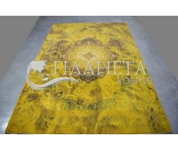 Иранский ковер Diba Carpet 1224 Yellow - высокое качество по лучшей цене в Украине