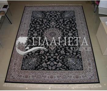 Иранский ковер Hamadan Silk 5.75053 dark blue - высокое качество по лучшей цене в Украине