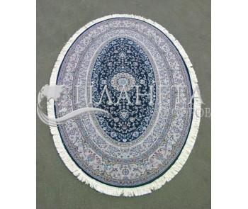 Иранский ковер Hamadan Silk 5.75058 dark blue - высокое качество по лучшей цене в Украине