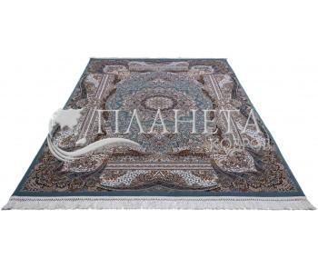 Персидский ковер Kashan 619-LBL blue - высокое качество по лучшей цене в Украине
