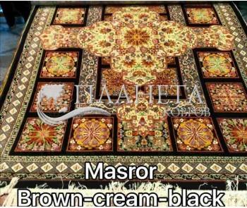 Иранский ковер Diba Carpet Masror brown-cream-black - высокое качество по лучшей цене в Украине