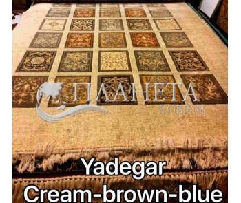 Иранский ковер Diba Carpet Yadegar cream-brown-blue - высокое качество по лучшей цене в Украине