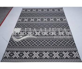 Безворсовый ковер Jersey Home 6727 wool-black-E518 - высокое качество по лучшей цене в Украине