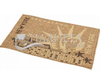 Безворсовый ковер Sisal 2390 , BROWN - высокое качество по лучшей цене в Украине