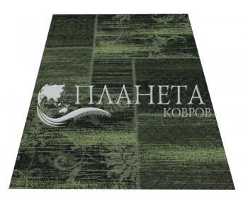 Безворсовый ковер Vintage 4814 black-bio green - высокое качество по лучшей цене в Украине