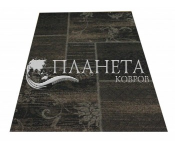 Безворсовый ковер Vintage 4814 black-clay brown - высокое качество по лучшей цене в Украине