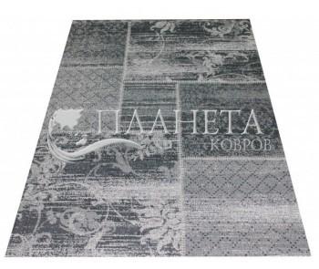 Безворсовый ковер Vintage 4814 black-fossit grey - высокое качество по лучшей цене в Украине