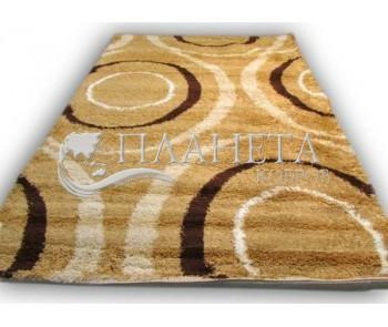 Высоковорсный ковер Gold Shaggy 0428 beige-hardal - высокое качество по лучшей цене в Украине