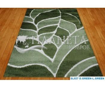 Высоковорсный ковер Hilton SL027 d.green-l.green - высокое качество по лучшей цене в Украине