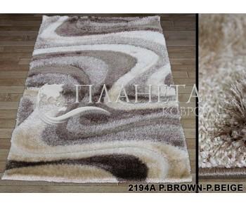 Высоковорсный ковер Therapy 2194A p.brown-p.beige - высокое качество по лучшей цене в Украине