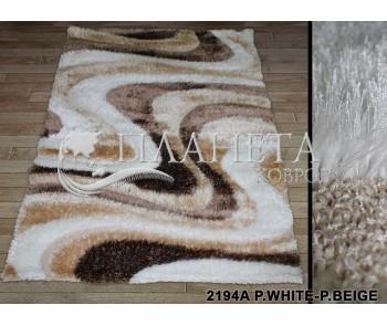 Высоковорсный ковер Therapy 2194A p.white-p.beige - высокое качество по лучшей цене в Украине