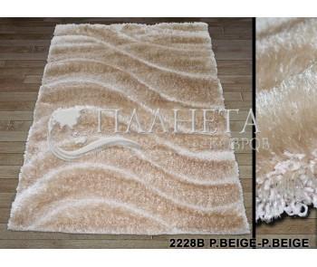 Высоковорсный ковер Therapy 2228B p.beige-p.beige - высокое качество по лучшей цене в Украине