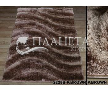 Высоковорсный ковер Therapy 2228B p.brown-p.brown - высокое качество по лучшей цене в Украине