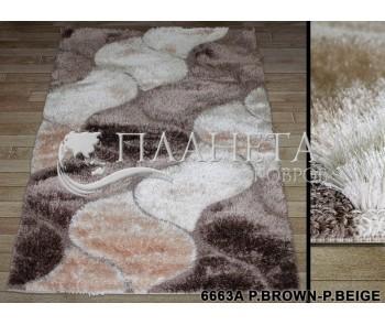 Высоковорсный ковер Therapy 6663A p.brown-p.beige - высокое качество по лучшей цене в Украине