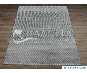 Высоковорсный ковер Times Square 4874 soft silver - высокое качество по лучшей цене в Украине