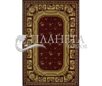Синтетический ковер Amber 0328A kemik-bordo - высокое качество по лучшей цене в Украине
