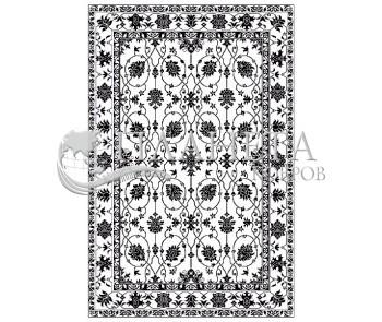 Иранский ковер Black&White 1742 - высокое качество по лучшей цене в Украине