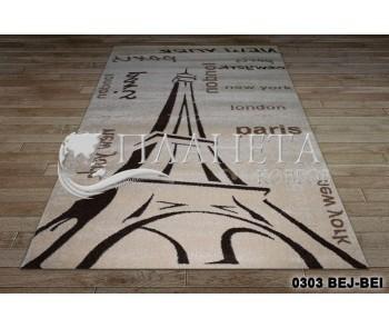 Синтетический ковер California 0303 BEJ-BEI - высокое качество по лучшей цене в Украине