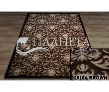 Синтетический ковер Chenill 2819A brown - высокое качество по лучшей цене в Украине