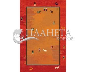 Иранский ковер Gabbeh Delvar Red - высокое качество по лучшей цене в Украине