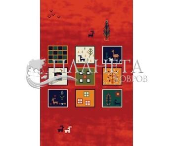 Иранский ковер Gabbeh Sepidah Red - высокое качество по лучшей цене в Украине