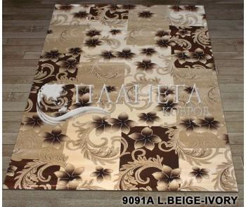 Синтетический ковер Nidal 9091A l.beige-ivory - высокое качество по лучшей цене в Украине