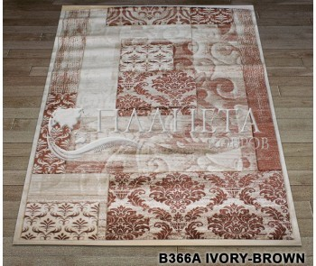 Синтетический ковер Nidal B366A ivory-brown - высокое качество по лучшей цене в Украине