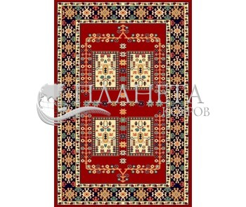 Иранский ковер Pazirik Qashqai D.Red - высокое качество по лучшей цене в Украине