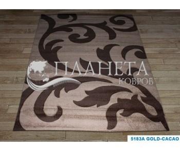 Синтетический ковер Sierra 5183A gold-cacao - высокое качество по лучшей цене в Украине