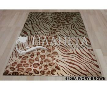Синтетический ковер Super Elmas 6406A ivory-brown - высокое качество по лучшей цене в Украине