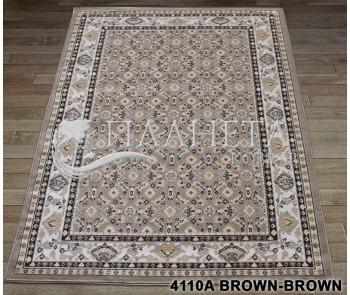 Синтетический ковер Tabriz 4110A brown-brown - высокое качество по лучшей цене в Украине