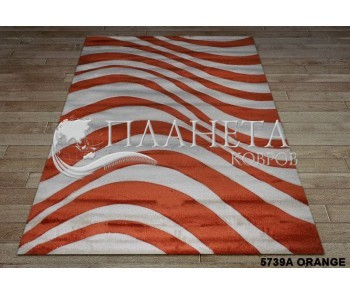 Синтетический ковер Tuna New 5739A orange - высокое качество по лучшей цене в Украине