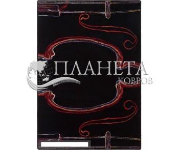 Шерстяной ковер Folk Kapela Czarny - высокое качество по лучшей цене в Украине
